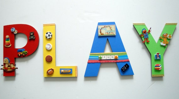 Playroom Wall Letters, Playroom Wall Art, Toys and Games Wall Art, Sports  Wall
