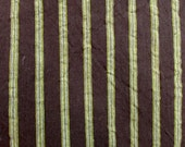 FRENCH COUNTRY in brown with avocado green stripes multipurpose fabric
