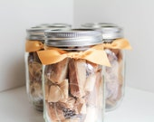 Gifts for Mom under 20 - Fleur de Sel Caramels - Set of (5) Half Pound Jars of Salted Caramels