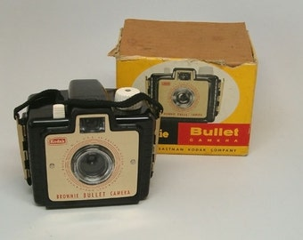KODAK Brownie BULLET with Original BOX, Vintage Camera