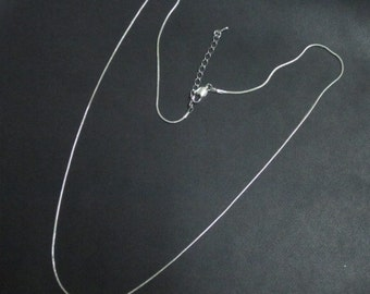 25 Silver Plate 24 inch Necklaces perfect for acrylic discs, dog tags, pendants, charms, monograms & more Beautiful Quality!