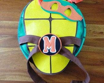Teenage Mutant Ninja Turtle Costume / Shell with matching mask / TMNT costume / Ninja Turtles