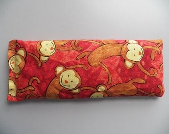 Eye Pillow - Orange Monkeys