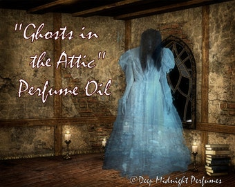 Ghosts in the Attic PERFUME Oil: Red apples, autumn wind, Halloween candies, antique wood, HALLOWEEN perfume, autumn fragrance