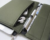 Tablet Keeper in Olive Your Tablet for iPad, iPad Mini, iPad Air, Nexus 7, Kindle Fire, Nook and more