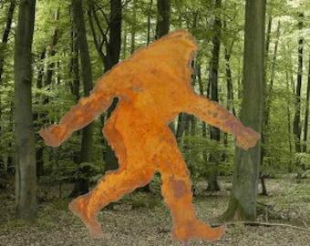 Bigfoot, Sasquatch or Yeti Silhouette Garden Stick