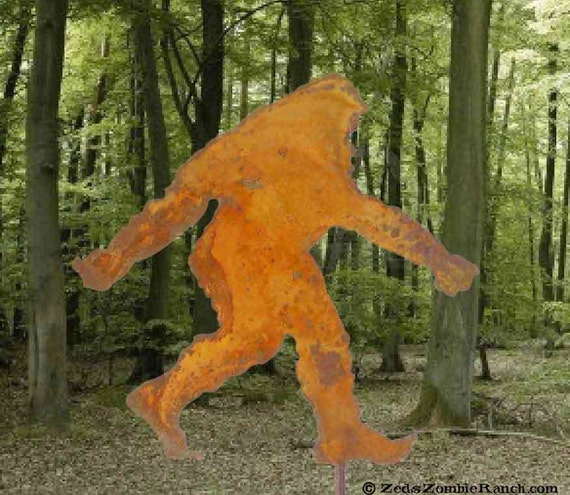 Bigfoot Sasquatch Or Yeti Silhouette Garden Stick