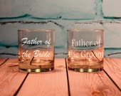 Father of the Bride or Father of the Groom Engraved Old Fashioned Glass, Personalized Gift, Father in Law Gift, Thank you parents