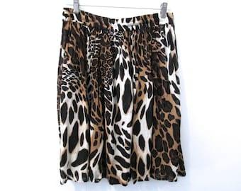 90's Animal Mini Skirt