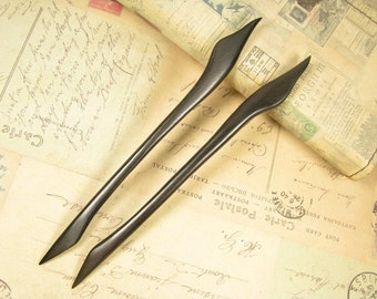 A Pair of Handmade Ebony Hair Stick