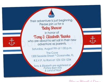 PRINTABLE Nautical Baby Shower Party Invitation #207