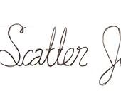 Handmade Wire Words - Scatter joy...