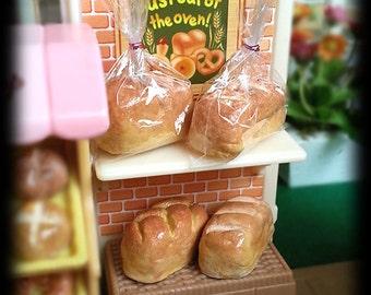 Dollhouse Miniature Bread Loaf - Petite Pastry Bakery Shop Supermarket Breakfast Fake food DIY Craft (see Item Details)