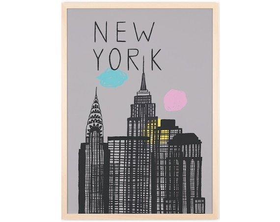 human empire new york poster by humanempireshop on etsy. Black Bedroom Furniture Sets. Home Design Ideas