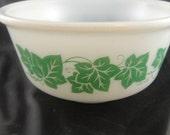 Ivy Design Milk Glass Bowl Hazel Atlas