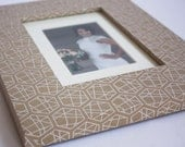 Tan and Silver Decorative 4x6 Picture Frame