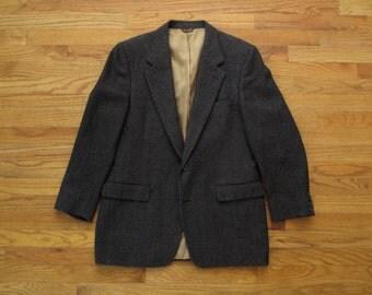 mens vintage Bill Blass herring bone tweed sport coat