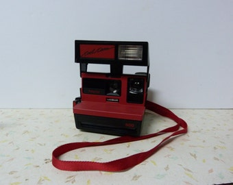 Vintage Red Polaroid 600 Cool Cam Camera With Flash