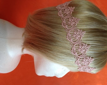 Hand-Dyed Vintage Lace 1920's Gatsby Headband