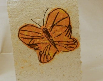 Single Hand Made Recycled School Paper Seed Card will attract Monarch Butterflies, Humming birds and Songbirds with this special seed mix.