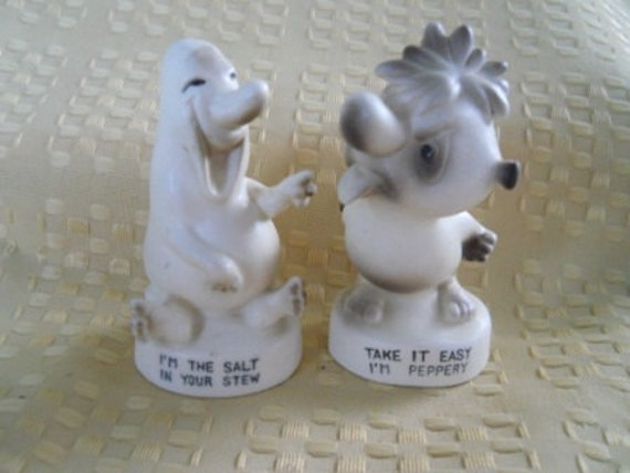 Silly And Funny Salt And Pepper Shakers Vintage Collectible