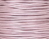 Leather-0.5mm Round Cord-Metallic Pink-2 Meters
