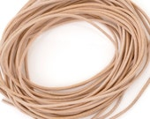 Leather-1.3mm Round Cord-Natural-Made in Germany-1 Meter