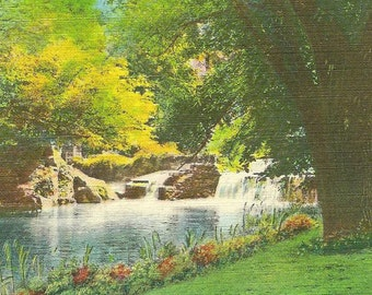 Buffalo Creek Milligan College TENNESSEE Unused Vintage Linen Postcard