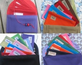 SIX  Fabric Cash Envelopes with Solid Carrier
