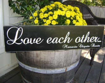 Love each other, Personazlied sign, Love