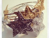 Over size glitter star headband