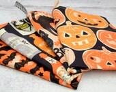 Halloween Holiday Kitchen Dish Tea Towel ONE in Halloween Spooktacular Bats, Potion Bottles, Cats or Pumpkins by Maude Asbury, Blend Fabrics