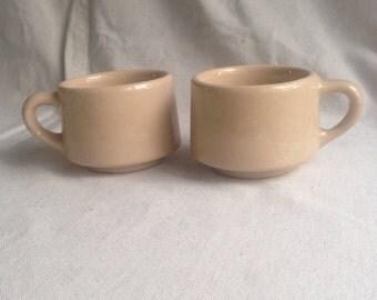 Vintage Pair of ironstone mugs cups