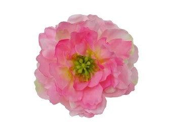 Sweet Peony Flower Hair Clip 3.25 Inches. Choose color