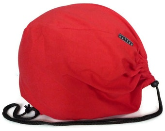 SALE Intense red helmet bag. Bicycle accessories. Bike bag.