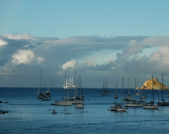 St Barts Photography /Harbor View _ Caribbean Photography /Tropical Art Print/ Sunrise St. Barth