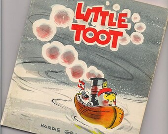 Vintage Illustrated Childrens Book - Little Toot by Hardie Gramatky