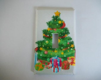 SWITCH PLATE COVER - Christmas Tree