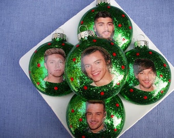 Ornaments - One Direction Inspired - Set of Five