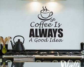 Coffe wall decal
