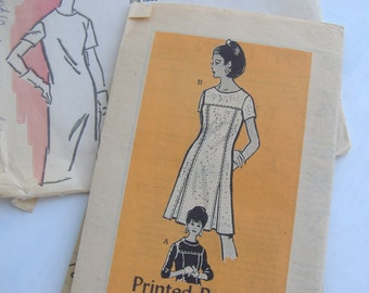 Anne Adams Mail Order Printed Pattern 4984, Misses Size 10 Dress, Bust 31