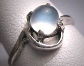 Antique Moonstone Ring Vintage Art Deco Victorian 1920s