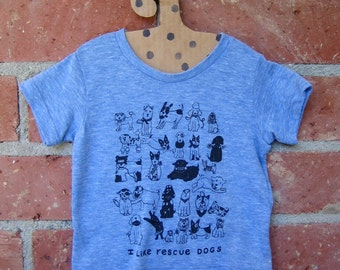 Rescue Dogs Tri Blend Baby Tee