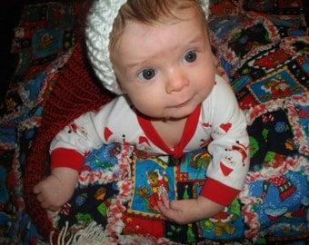 Teddy Bear Christmas Rag Quilt