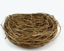 Wild Grass Nest - Artificial Bird's Nest - 4 Inches - Wedding Decor, Bird Cage Decor