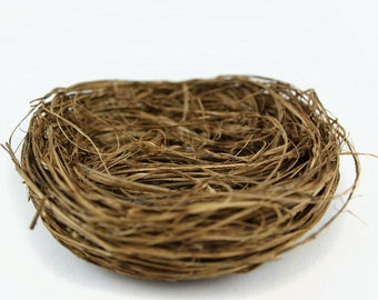 Wild Grass Nest - Artificial Bird's Nest - 4 Inches - Wedding Decor, Bird Cage Decor