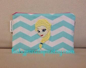 Pencil Case/Cosmetic Bag/ Gadget Case - Elsa the Winter Queen