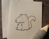 Squirrel Card - Woodland Critters