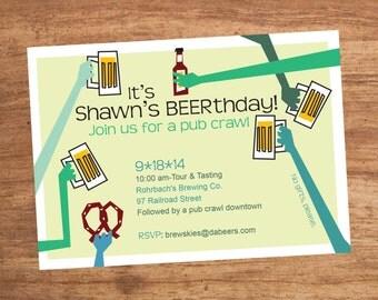 Beer Party Custom Printable Invitation