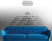 """Star Wars Decal """"A New Hope"""" Crawl quote : 'A long time ago in a galaxy far far away'. Kids decal, Episode 4 decor"""